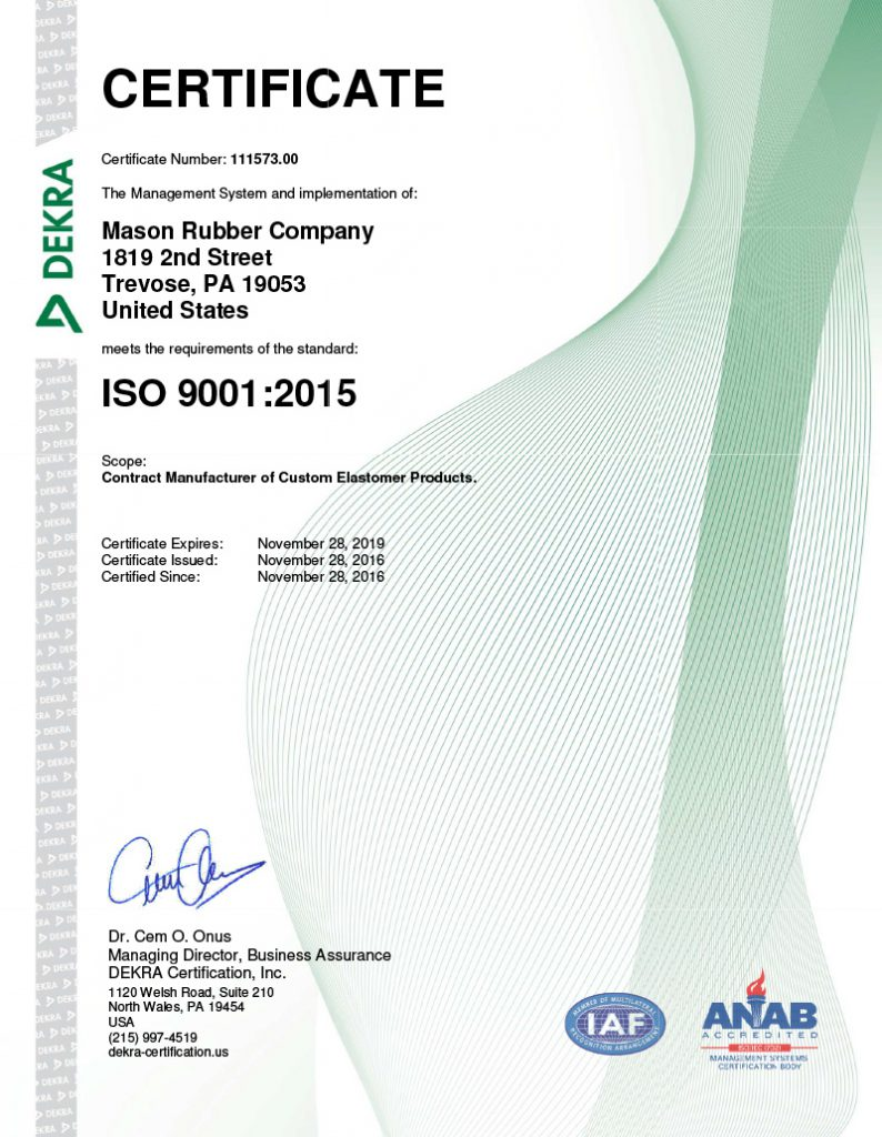 Certifications mason rubber certifications 1betcityfo Gallery